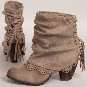 Naughty Monkey Taupe Ankle Booties